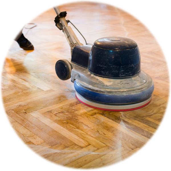Wood floor polish, scrub & buff. Wooden floor cleaning services in western and northern Melbourne